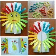 50 Awesome Spring Crafts for Kids Ideas Spring Crafts For Kids, Summer Crafts, Diy For Kids, Craft Activities, Preschool Crafts, Easter Crafts, Preschool Learning, Toddler Art, Toddler Crafts