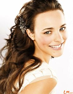 Rachel McAdams - love her hair!! I'd like to do something like this for my wedding. Maybe with my bangs out.