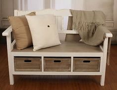 Sadie High-Back Storage Bench | Bedroom Sanctuary | Pinterest ...