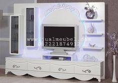 Avangard TV Üniteleri Modelleri White Avant-garde TV Unit with Led Lighting Modern Tv Cabinet, Tv Cabinet Design, Tv Wall Design, Hall Design, Modern Tv Unit Designs, Wall Unit Designs, Modern Tv Wall Units, Living Room Tv Unit Designs, Tv Unit Decor