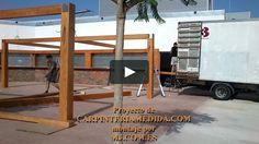 Montaje pérgolas y porches carpintería para restaurantes PARTE [14 ]MONTAJES M3