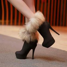 Fashion Fox sexy -High Heels Boots I love High Heel Boots, Heeled Boots, Bootie Boots, Shoe Boots, Ankle Boots, Boot Heels, Ugg Boots, Women's Shoes, Pretty Shoes