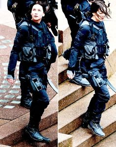 Jennifer Lawrence on the set of Mockingjay in Paris - May 12th, 2014