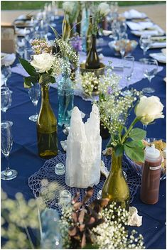 wine bottle reception decor