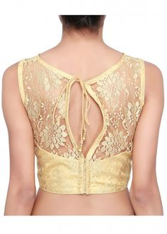 Gold blouse adorn lace only on Kalki
