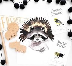 LITTLE RACOON CHIEF print from hello pear designs