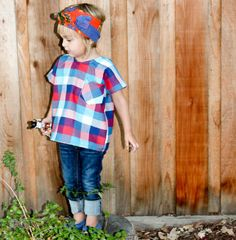 Size 3T Plaid Boxy Top by duchessandlion on Etsy