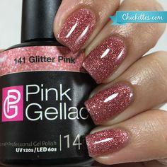 141 Pink Gellac Glitter Pink