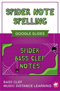 Spider Spelling is a fun activity that you can assign through Google Classroom for practicing bass clef note names on the staff! The Halloween theme is perfect for October distance learning assignments and useful for assessments with beginning band and orchestra. Music Activities, Music Games, Fun Music, Movement Activities, Music Mix, Holiday Activities, Music Lessons For Kids, Music Lesson Plans, Teaching Orchestra
