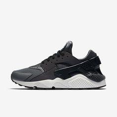new york d75e0 d4b0a Chaussure Nike Air Huarache Pas Cher Femme et Homme Premium Gris Fonce Noir  Platine Pur Noir