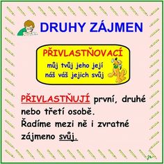 DRUHY ZÁJMEN Grammar, Worksheets, Homeschool, Cards, Literature, Literacy Centers, Maps, Homeschooling