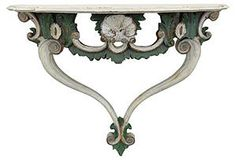 Carved Italian Wall-Mounted Console