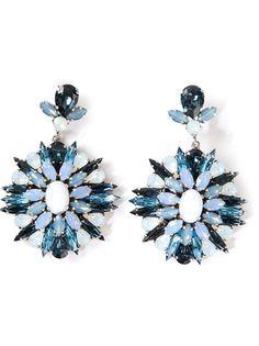 MARINA FOSSATI Embellished Pendant Earrings