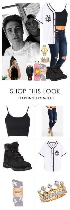 """spending the day with sammy boy and skate maloley"" by lexiii-caniff ❤ liked on Polyvore featuring Topshop, Timberland and Movado"