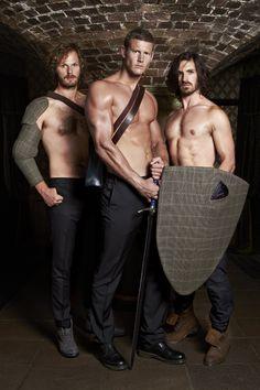 Rupert Young, Tom Hopper, and Eoin Macken. Sir Leon, Sir Percival, and Sir Gwaine from Merlin.
