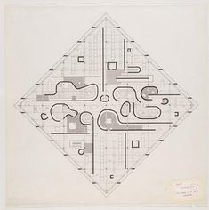 best floor plan website ever // John Hejduk, Diamond Houses. Paper Architecture, Architecture Drawings, Architecture Plan, Museum Architecture, Architecture Graphics, Architecture Details, Aldo Van Eyck, John Hejduk, House Design Drawing