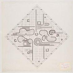 best floor plan website ever // John Hejduk, Diamond Houses. 1950-60