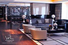 Black and White Emperor Suite. Mandarin Oriental Las Vegas. Designed by Adam D.Tihany. #interiordesign #hotels #hospitality