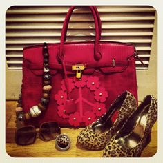 Necklace, ring and bag by Ahh nells !!!