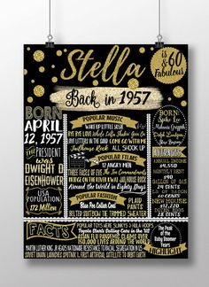 1957 birthday board things happening 60 by CustomPrintablesNY