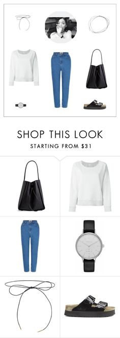 """Untitled #218"" by kittiena ❤ liked on Polyvore featuring 3.1 Phillip Lim, rag & bone/JEAN, New Look, Skagen, Lilou and Birkenstock"