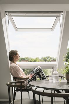 A statement Velux window makes this a daylight filled loft conversion Design Your Dream House, My Dream Home, House Design, Roof Window, Roof Styles, Roof Light, Extra Rooms, Loft Design, House Extensions