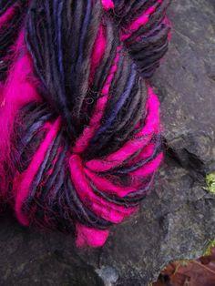 Handspun yarn handpainted art yarn Merino wool and by Yarnarchy, $32.00