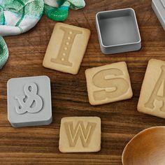 Letterpress cookie cutters