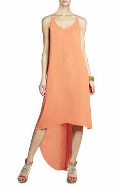 Rory Sleeveless Dress With High-Low Hem   BCBG bridesmaid