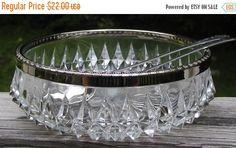 SALE Bowl Crystal Serving Sheffield England by TreasureofMemories