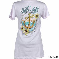 Salt Life Womens Life Unanchored Scoop Neck Short-Sleeve T-Shirt-766815 - Gander Mountain