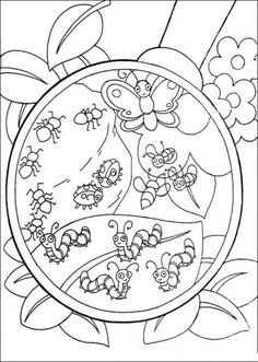 Super Coloring Pages....I like that it shows the magnifying class in the picture.
