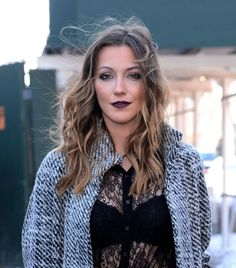 Katie Cassidy Style - Outside Lincoln Centre - 2014 Mercedes Benz Fashion Week in NYC - CelebMafia