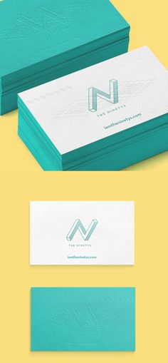 Business card design and identity for music producer The Ninetys ...