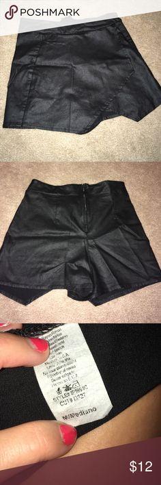 Necessary Clothing skort Necessary Clothing faux leather skort. Very stretchy! Necessary Clothing Shorts Skorts