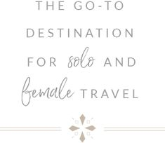 I'm often asked for female travel tips and where it's safe for women to travel solo. Here are 10 of the safest destinations for solo female travelers! Honeymoon Destinations, Amazing Destinations, Honeymoon Tips, Orlando, Moustiers Sainte Marie, Girlfriends Getaway, California Coast, By Train, Koh Tao