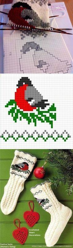 Christmas Stockings, Christmas Tree, Knit Shawls, Kawaii Style, Kawaii Fashion, Projects To Try, Knitting, Holiday Decor, Crochet