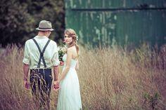 #farm wedding photography | vintage bride & groom in a field | @haasweddings