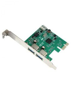 PCI-E USB 3.0 2ports   PCI-Express card 2x USB3.0 port, 10X FASTER than USB2.0  Harga rp150.000 Info detail di : www.tokomipo.com Pci Card, Usb, Cards, Maps, Playing Cards
