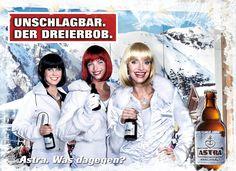 """Astra """"Dreierbob"""" gefunden auf www.facebook.com/AstraBier gepinned von der Werbeagentur BlickeDeeler aus Hamburg. Mehr Infos? www.BlickeDeeler.de"""