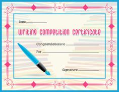 Certificate of excellence template for ms word download at for Calligraphy certificate templates