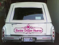 I'm the kind of girl who stumbles upon pictures of The Barbie Dream Hearse by accident amidst my regular web perusals.