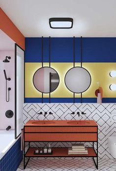 home decor christmas Diy Bathroom Decor, Bathroom Colors, Bathroom Interior Design, Bauhaus Interior, Interior Architecture, Memphis Design, Toilet Design, Amazing Bathrooms, Bathroom Inspiration