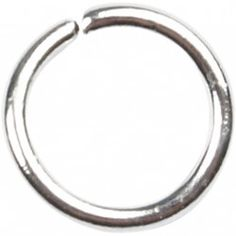 Round Jump Rings,  0,7 mm, silver-plated, SP, 500 pcs