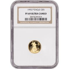 1992-P American Gold Eagle Coin Proof 1/10 oz $5 - Certified NGC PF69 UCAM Ultra Cameo