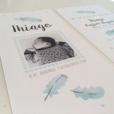 Lief geboortekaartje met foto --> info@zojoann.nl   #geboortekaartje #jongen #birthannouncement #baby #babyboy #feather #watercolor #watercolour