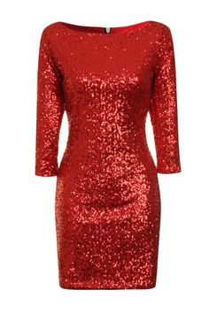 Clang, I could totally see you in this dress --- Red Sequin Dress on Glamorous
