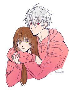 Reii(@Reii_70707)さん | Twitter Messenger Games, Mystic Messenger Fanart, Mystic Messenger Characters, Mini Comic, Saeran, Manga, Anime Love, Anime Couples, Anime Characters
