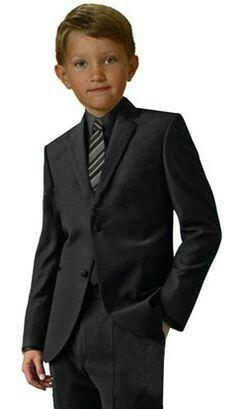17d8e311d14 Children Boy All Black Wedding Suit Ideas Kids Dress Suits