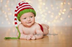 Infant Christmas Stocking Hat Christmas by LooptyLooDesigns